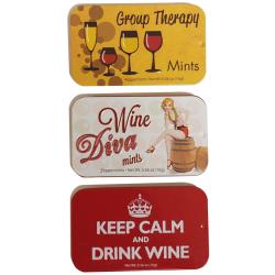 AmuseMints Wine-Themed Peppermints, 0.56-Oz Tin