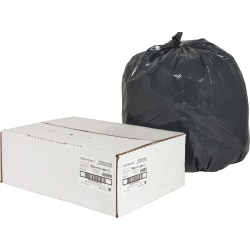 """naturesaver® 0.85-mil Can Liners, 16 Gallons, 24"""" x 31"""", 75% Recycled, Black, Box Of 500"""