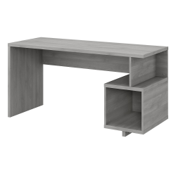 "kathy ireland® Home by Bush Furniture Madison Avenue 60""W Writing Desk With Storage Cubby, Modern Gray, Standard Delivery"