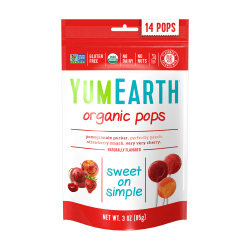 Yummy Earth Organic Lollipops, 3 Oz, Pack Of 6 Bags