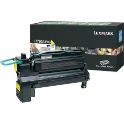Lexmark™ C792A1YG Return Program Yellow Toner Cartridge