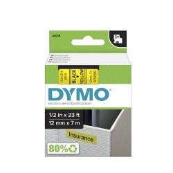 "DYMO® D1 45018 Black-On-Yellow Tape, 0.5"" x 23'"