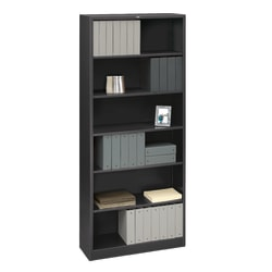 HON® Brigade® Steel Bookcase, 6 Shelves, Charcoal