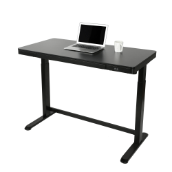 "Realspace® 48""W Electric Height-Adjustable Standing Desk, Black"