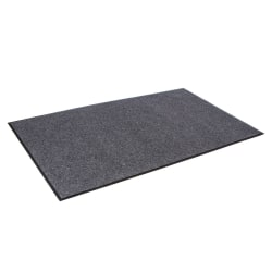 """Crown Eco-Step Wiper Mat, 36"""" x 60"""", 98% Recycled, Charcoal"""