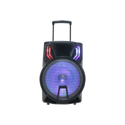 Naxa NDS-1514 Portable Bluetooth Speaker System - Black - Battery Rechargeable - USB