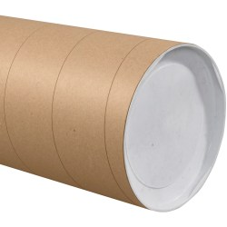 """Office Depot® Brand Jumbo Mailing Tubes, 10"""" x 36"""", 80% Recycled, Kraft, Case Of 8"""