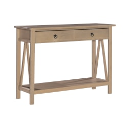 Linon Rockport Rustic Console Table, Rectangle, Driftwood
