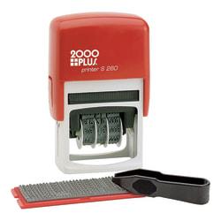 2000 Plus® Custom Dater Stamp Kit, Blue/Red
