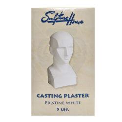 Sculpture House Pristine Casting Plaster, 5 Lb, White
