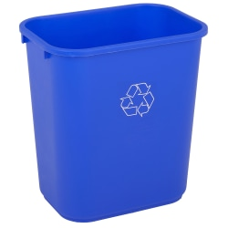 Highmark™ Recycling Bin, 6.5 Gallons, Blue