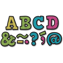 """Teacher Created Resources 2"""" Bold Block Magnet Letters - Learning Theme/Subject - 87 (Letter) Shape - Magnetic - Durable, Damage Resistant - 0.10"""" Height x 2"""" Width x 2"""" Depth - Multicolor - 87 / Pack"""