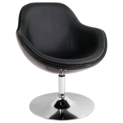 Lumisource Saddlebrook Lounge Chair, Black/Chrome