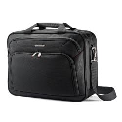 "Samsonite® Xenon 3 2-Gusset Toploader Bag, 16 1/2""H x 12 3/4""W x 4 3/4""D, Black"