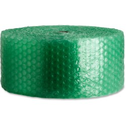 "Sparco 125' Recycled Bubble Cushioning - 12"" Width x 125 ft Length - 0.5"" Bubble Size - Eco-friendly, Flexible, Lightweight - Green"