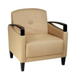 Ave Six Main Street Woven Arm Chair, Wheat/Espresso