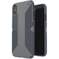 Speck Presidio Grip iPhone Xs Max Case - For Apple iPhone Xs Max - Graphite Gray, Charcoal Gray - Impact Absorbing, Scratch Resistant, Shatter Resistant, Anti-slip, Drop Resistant, Temperature Resistant, Chemical Resistant, Crack Resistant