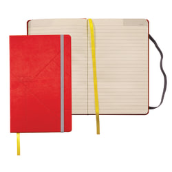 """TOPS® Idea Collective Hardbound Journal, 8 1/4"""" x 5"""", Red, 120 Sheets"""