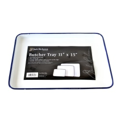 """Jack Richeson Oblong Butcher Trays, 11"""" x 15"""", White, Pack Of 2"""