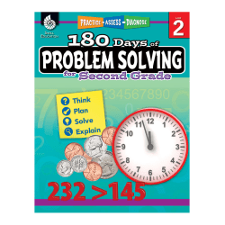 Shell Education 180 Days Of Problem Solving, Grade 2