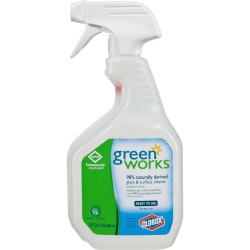 Green Works Green Works Glass & Surface Cleaner - Spray - 32 fl oz (1 quart) - 216 / Bundle - Clear