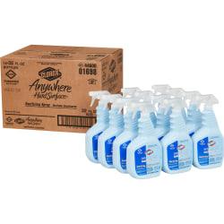 Clorox Anywhere Hard Surface Sanitizing Spray - Spray - 0.25 gal (32 fl oz) - 12 / Carton - Clear