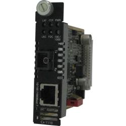 Perle CM-1110-S1SC120D Gigabit Ethernet Media Converter - 1 x Network (RJ-45) - 1 x SC Ports - 10/100/1000Base-T, 1000Base-BX - Internal