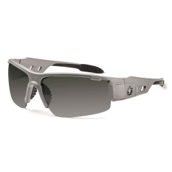 Ergodyne Skullerz® Safety Glasses, Dagr, Polarized, Matte Gray Frame, Smoke Lens