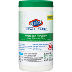 Clorox Healthcare Hydrogen Peroxide Disinfecting Wipes - Wipe - 95 / Canister - 450 / Pallet - White