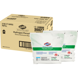 Clorox Healthcare Hydrogen Peroxide Disinfecting Wipes - Wipe - 185 - 2 / Carton - White