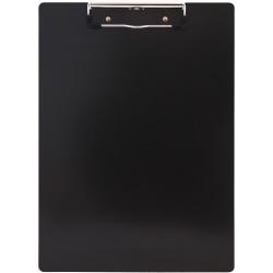 "Saunders Aluminum Clipboard - 8 1/2"" x 11"" - Low-profile - Aluminum - Black - 1 Each"
