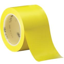 "3M™ 471 Vinyl Tape, 3"" Core, 3"" x 36 Yd., Yellow, Case Of 12"