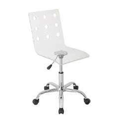 Lumisource Swiss Acrylic Office Chair, Clear/Chrome