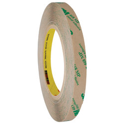 """3M™ 468MP Adhesive Transfer Tape, 3"""" Core, 0.5"""" x 60 Yd., Clear, Case Of 6"""