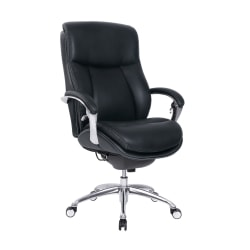 Serta® iComfort i5000 Big And Tall Faux Leather Executive Chair, Onyx/Silver
