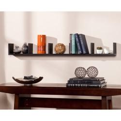 """Southern Enterprises Seaside Shelf, 5 1/4""""H x 48""""W x 4 3/4""""D, Black"""