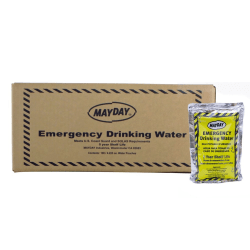 Ready America Mayday Industries Emergency Drinking Water Pouches, 4.23 Oz, Case Of 100 Pouches