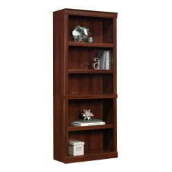 "Realspace® 72""H 5-Shelf Bookcase, Mulled Cherry"