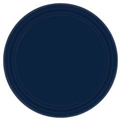 """Amscan Round Paper Plates, 7"""", True Navy, Pack of 120 Plates"""