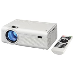 GPX DLP Projector - 800 x 480 - Front - 480p - 20000 Hour Normal Mode - 1,000:1 - 2000 lm - HDMI - USB - 90 Day Warranty