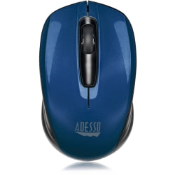 Adesso® iMouse S50L Mini Wireless Optical Mouse, Blue, 2MB512