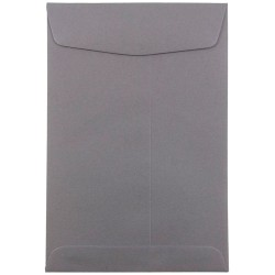 "JAM Paper® Open-End Catalog Envelopes With Gummed Closure, 6"" x 9"", Dark Gray, Pack Of 10"