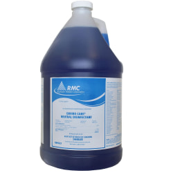 RMC Enviro Care Neutral Disinfectant - Concentrate Spray - 128 fl oz (4 quart) - 4 / Carton - Blue