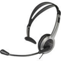 Panasonic KX-TCA430 Headset - Mono - Sub-mini phone - Wired - Over-the-head - Monaural - Semi-open - 4 ft Cable