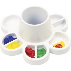 "Storex Paint & Water Tray - Paint, Water, Art Project - 6"" x 8.30""8.30"" - 6 / Carton - White - Plastic"