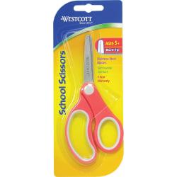 """Westcott® School Scissors, 5"""", Blunt, Assorted Colors"""