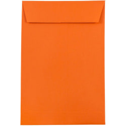 """JAM Paper® Open-End Catalog Envelopes With Gummed Closure, 6"""" x 9"""", 30% Recycled, Orange, Pack Of 10"""