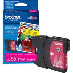 Brother LC65HYM Original Ink Cartridge - Inkjet - 750 Pages - Magenta - 1 Each
