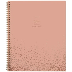 """Cambridge® WorkStyle Coral Dot Academic Monthly Planner, 8-1/2"""" x 11"""", Coral/Rose Gold, July 2020 To June 2021, 1442-900A-34"""
