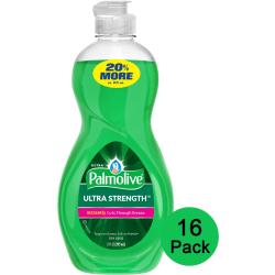 Palmolive Ultra Strength Liquid Dish Soap - Concentrate Liquid - 10 fl oz - 16 / Carton - Green